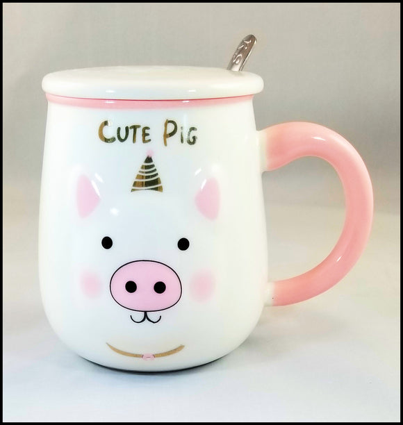 mug - cute pig - free shipping in USA only