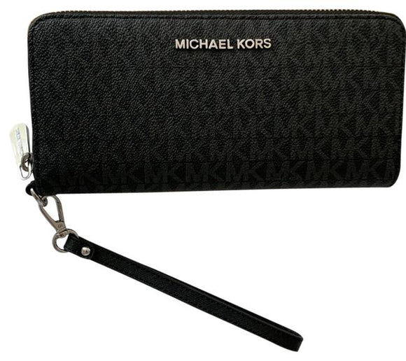 michael kors cooper large continental wristlet wallet mens womens unisex Black