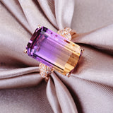 fashion costume jewelry ring purple