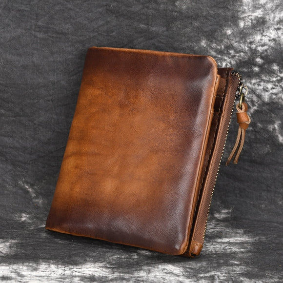 Vintage Style Leather Unisex Wallet and Credit Card Holder
