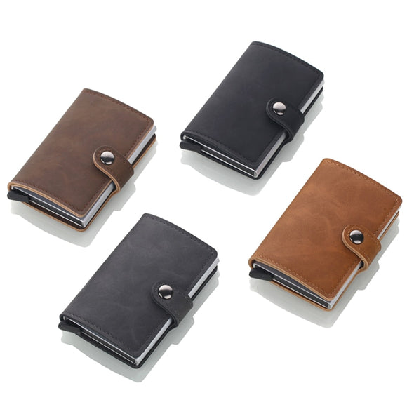 Leather Credit Card Holder With RFID Blocking Card Holder