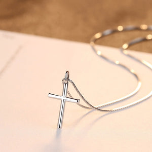 Classic Sterling Silver Cross Pendant & Necklace