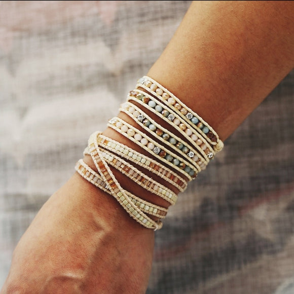 bohemian bracelets, natural, stones, fashion, jewelry, woman's,