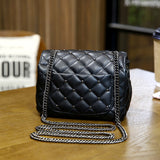 Classic PU Leather Studded Square Shoulder Strap