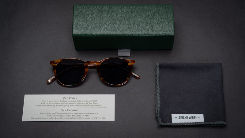 Johann Wolff eyewear packaging