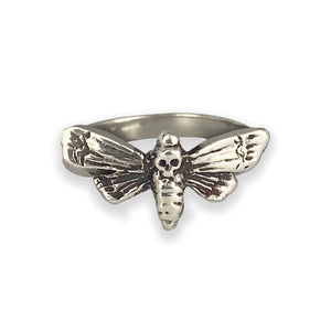 Sterling Silver Atropos Deaths Head Moth Ring