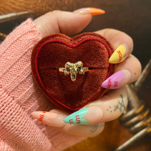 Valentines Exclusive - Solid 9ct Gold Mini Hope Rams Skull Ring