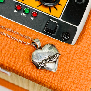 LOVEFOOL Large Sterling Silver Heart Pendant