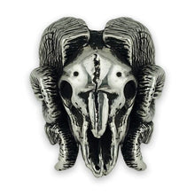 Load image into Gallery viewer, Sterling Silver Beyond Hope Rams Skull Ring