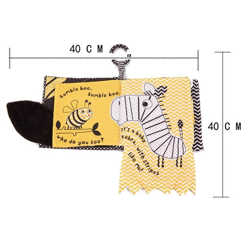 bee baby cloth book