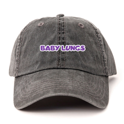 Baby Lungs Dad Hat (Charcoal)