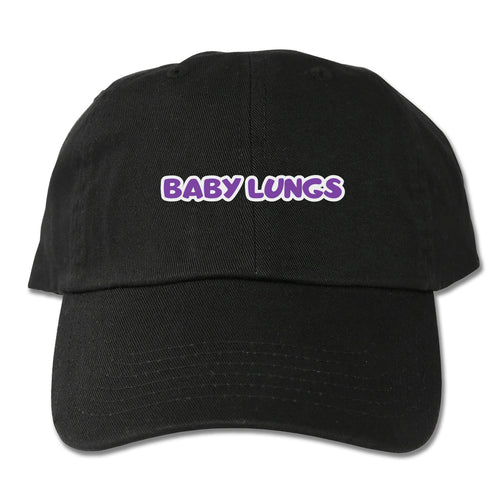 Baby Lungs Dad Hat (Black)