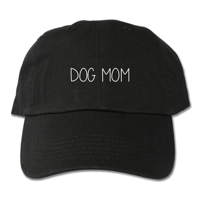 Dog Mom Dad Hat (Black)
