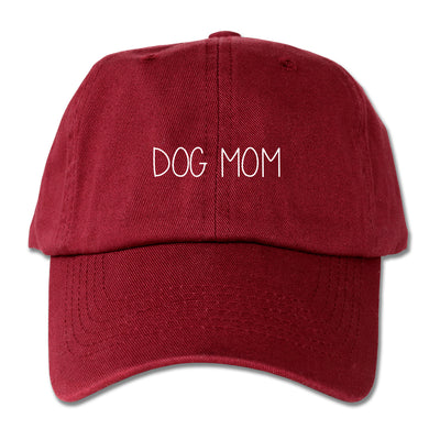 Dog Mom Dad Hat (Maroon)