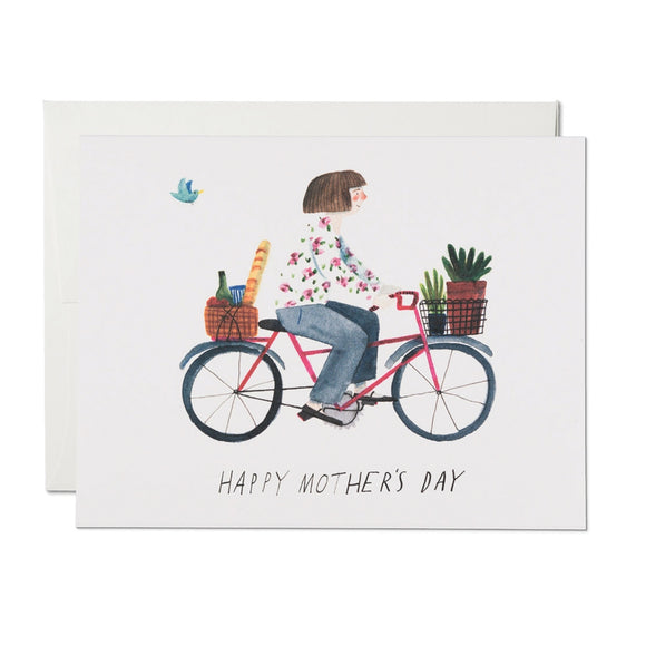 mother's bike - card