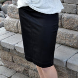 stretch knit skirt - black - customer favorite!