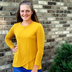 signature cross front tee - marigold - 45% off!