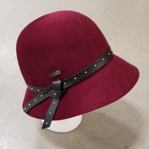 vanessa hat - dark plum