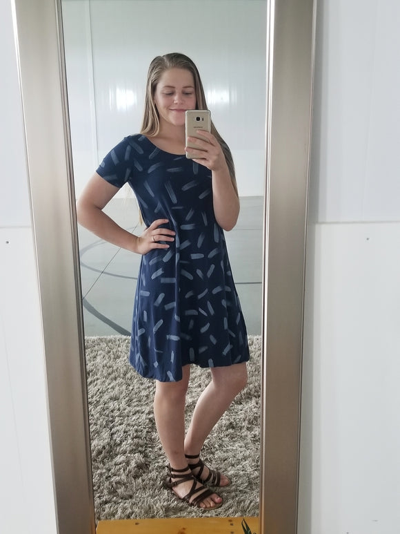 t-shirt dress - navy dash