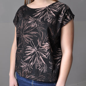 keang top - black with cactus