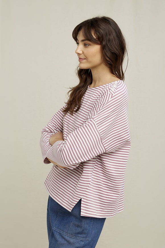 roma stripe top - mauve