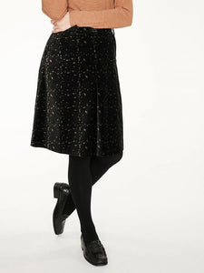 selina velvet skirt - black