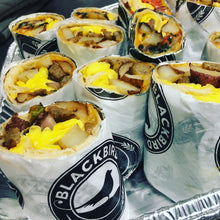 Load image into Gallery viewer, Breakfast Burrito Box Serves 10