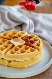 Cinnamon & Sugar Belgian Waffles with Syrup & Butter