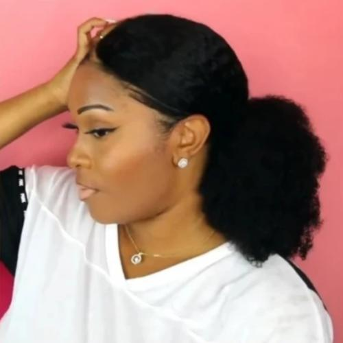 C242| Super Natural Sleek Afro Kinky Curly Wig
