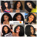 C142| Malaysian Short Curly Lace Front Wig-150%Thick|Remy Human Wig