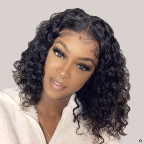 WB104| Water Wave Lace Wigs Brazilian Short Bob Wigs