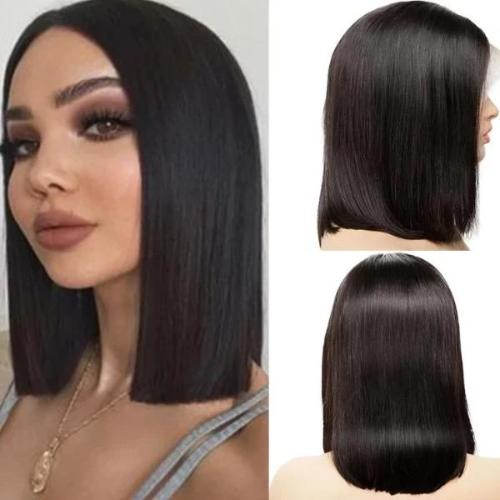 SB109 | Human Hair| Short straight bob Wig| 360 Lace