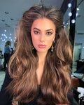 W118 | Human Hair| New fashion trend brown long hair| 360 Lace