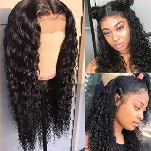 C108 | Curly Wigs Glueless Lace Front Wigs Long Narural