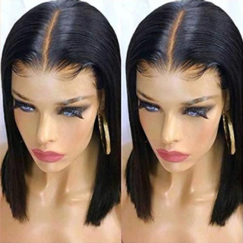 S109| Lace Front Human Hair Bob Brazilian Straight Hair Wigs