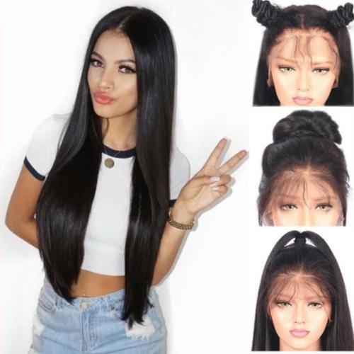 S121|Lace Front Synthetic Wigs Long Straight Heat Resistant Hair