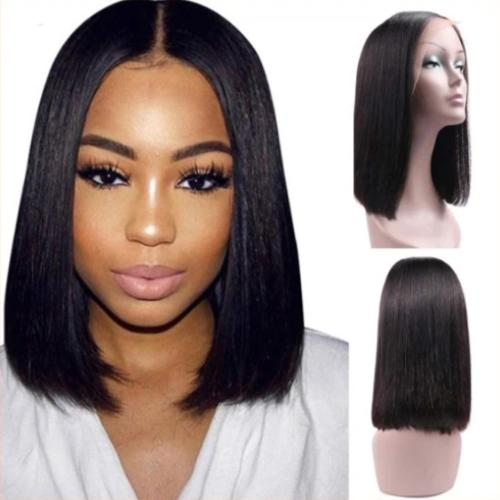 S101 | Lace Front Short Bob Brazilian Straight Wigs For Black Women