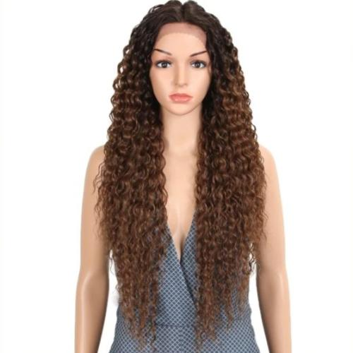 C118 | Human Hair| Classy Brown Beautiful Curly Wig