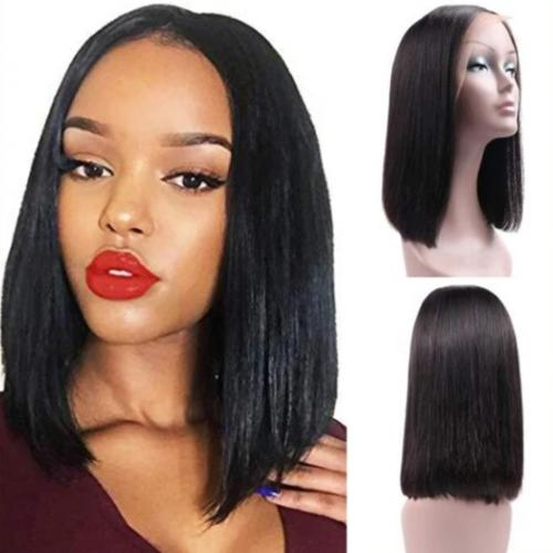 SB107 | Lace Front Short Bob Brazilian Straight Human Hair Wigs