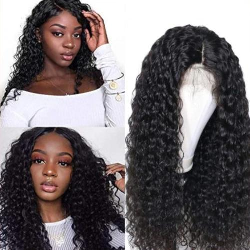C110 | Human Hair| 2019 Brown Black Curly Wig| 360 Lace