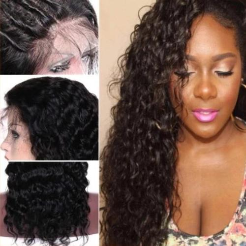 C202| Water Curly Lace Front Wig Brazilian Human Hair