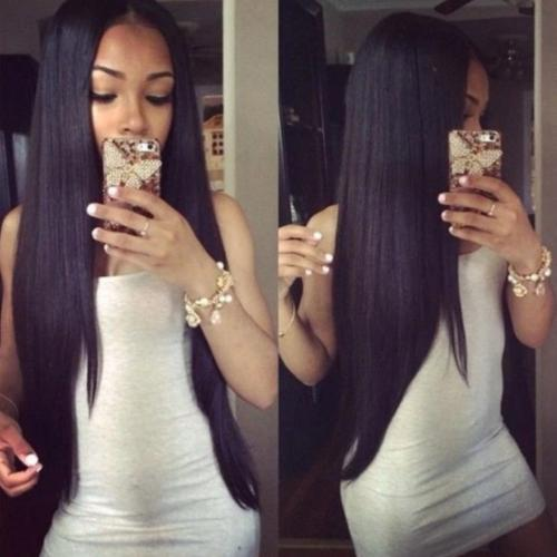 S104 | Remy Virgin Hair Straight Hair Lace Wigs with Baby Hair
