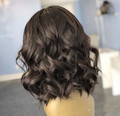 W119| Natural Sexy Lace Front Short Wavy Curly Hair