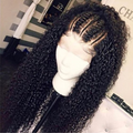 C126| Brazilian Glamorous Black Front Short Curly 360 Lace Wig