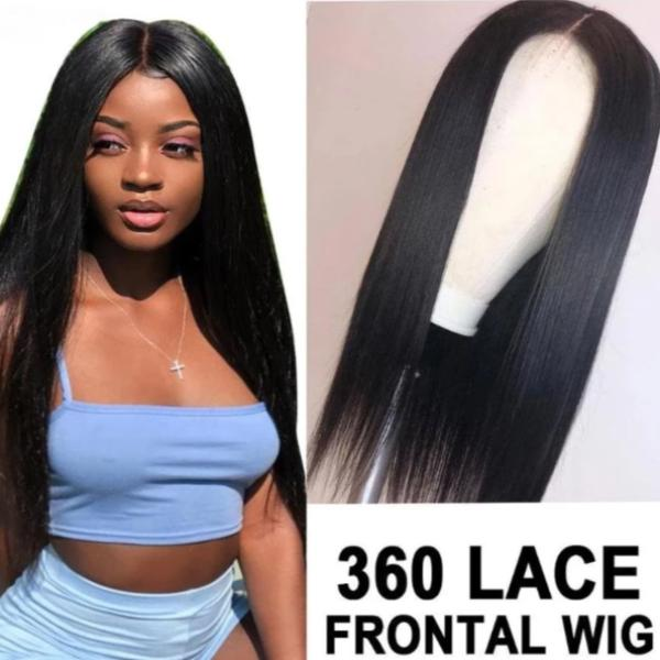 S106 | Human Hair| 360 Lcae Straight Wigs for Black Women