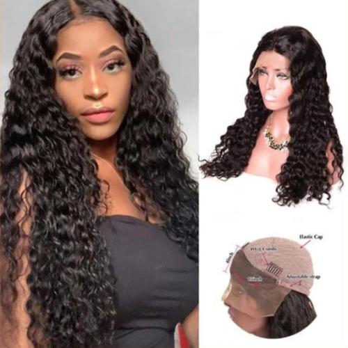C213| Long Curly Water Wave Lace Front Wigs Remy Hair