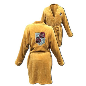 Description:Feeling a bit cold lately? then why not fix that with one of these Bath Robes, sure to keep you warm as you lounge about the day.Sizing: One Size Fits Most AdultsBrand: Attack On Titan, Great Eastern EntertainmentBoxed: yes Default Title 80.00 AUD