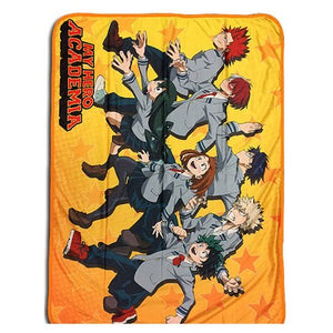 My Hero Academia Throw Blanket - Group Run Sublimation