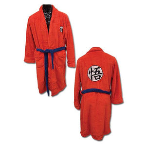 Description:Feeling a bit cold lately? then why not fix that with one of these Bath Robes, sure to keep you warm as you lounge about the day.Sizing: One Size Fits Most AdultsBrand: Dragon Ball Z, Great Eastern EntertainmentBoxed: yes Default Title 80.00 AUD