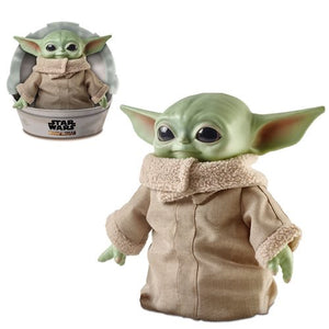 DescriptionBaby Yoda has become one of the franchises most popular characters, and know you can own your own plush version. At almost 30 cm tall and with its own crib, this plush is certainly something not to miss out on. Roto-vinyl head, sparkling glass eyes, and a soft body with a sturdy bean-filled base Size: About 27cm tall (11 inch)Brands: Lucasfilm, Mattel, The Mandalorian, Star Wars, Disney+Boxed: No, But comes inside crib   Default Title 60.00 AUD
